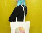 Phrenology Head Tote Bag Canvas Tote Bag Cool Resusable Bag Shopper Bag Geek Book Bag Nerd Science Gift