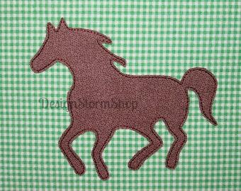 Horse Applique Design/Machine Embroidery Farm Animal/Pony Applique/Silhouette/Instant Digital Download File