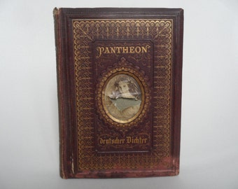 Pantheon of the german poets,german antique book of 1868,Peter Lohmann,illustrated book,german poets collectible book