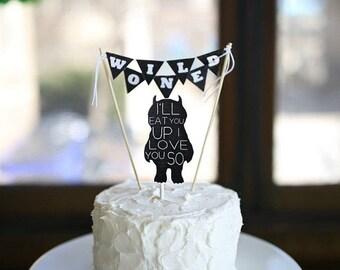 Wild one cake topper, Wild one party, wild one, boho cake topper