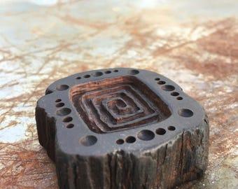 Cedar Spiral Pendant