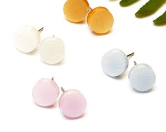 Shimmer Tiny Dot Stud Earring · Petal Collection · Sunflower Snowdrop Bluebell Rose Tiny Dot Earrings