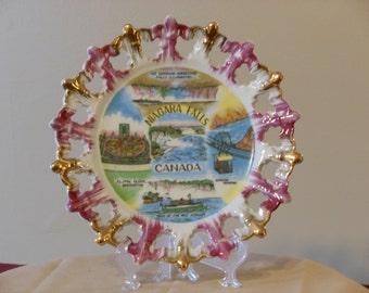Niagara Falls Canada Vintage Souvenir Collector's Plate