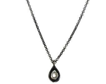 Polki Diamond silver chain necklace