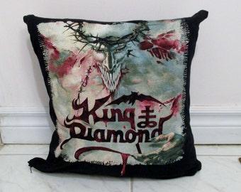 King Diamond Pillow DIY Heavy Metal Decor #1 (Cover or Full Pillow)