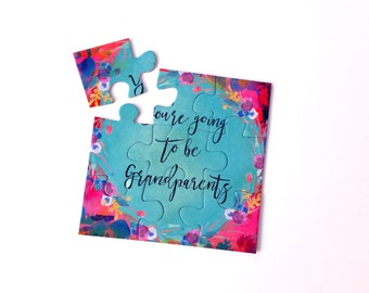 Pregnancy Announcement For Grandparents Puzzle - Baby Reveal Puzzle - Pregnancy Announcement Puzzle - You're Going To Be Grandparents