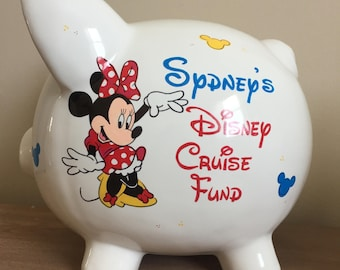 Personalized Disney Fund Piggy Bank