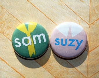 Sam and Suzy Moonrise Kingdom- one inch pinback button magnet set