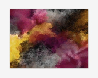 Wall Art Canvas, Magenta Gold Yellow Black grey wall Decor, Canvas Print