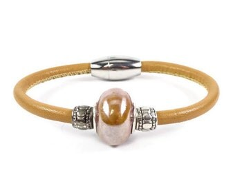 Tan Leather Bracelet, Womens Leather Bracelet, Womens Leather Jewelry, Wrap Leather Bracelet, Leather Wrap Bracelet, Brown Leather Bracelet