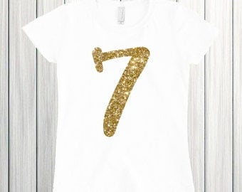 Seven year old birthday Seven and Sassy Birthday Shirt Seven Girl Shirt Birthday Girl I'm Seven 7th Birthday shirt 7 Seventh Glitter Sparkle
