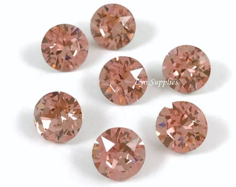 1088 ss39 VINTAGE ROSE Swarovski Crystal XIRIUS Chaton Pointed Back Round Stone 12 pieces