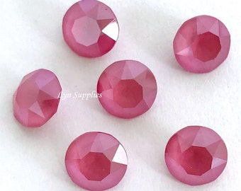 1088 ss39 PEONY PINK Swarovski Crystal XIRIUS Chaton Pointed Back Round 12 pieces - New Color Spring / Summer 2018