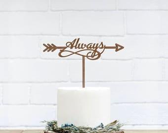 Customized Wedding Cake Topper, Personalized Cake Topper for Wedding, Custom Personalized Wedding Cake Topper, Always Wedding Cake Topper-24