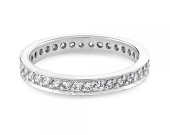 0.72ct Full Diamond Eternity Ring