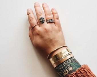 Wide Metal Cuff Bracelet Customizable metal cuff wide 1/2 inch