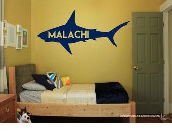 Great White Shark Wall Art - Kids Room - Shark Week - Custom Shark - Shark Kids Room - Shark Decal