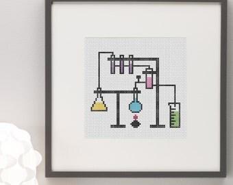 Chemistry Lab Cross Stitch Pattern