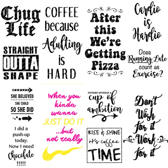 12 Svg Sayings For Water Bottles Coffee Tumblers Or Mugs