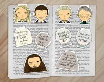 Wizard School Set 3 - Luna Lovegood, Neville, Draco, McGonagall, and Hagrid Clips
