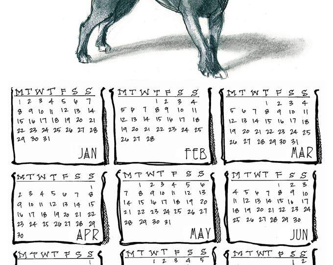 American Pit Bull 2018 yearly calendar