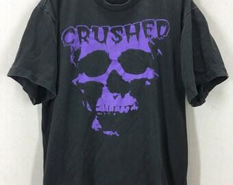 Vintage 90's Crushed Heavy Metal Rock Tshirt Sz XL USA