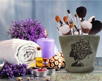 Hairstylist Glitter Jar, Brush Holder, Makeup Brush Holder, Bathroom Decor, Glitter Brush Holder, I Love Makeup Jar, Vanity Storage
