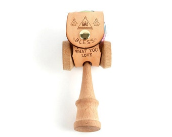 Leather Kendama Holster / laser-cut / Handcrafted in Portland, Oregon