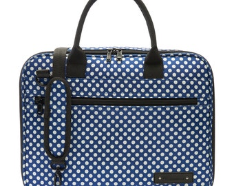 Beaumont Handmade Blue Polka Dot Clarinet or Oboe Carry Case/Bag