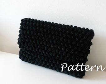 CROCHET PATTERN Crochet Bag Pattern crochet purse pochette pattern woman bag, evening bag, summer bag, handbag, crochet bag