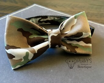 Camo Bow Tie and Collar OR Bow Tie Only *OPTIONAL