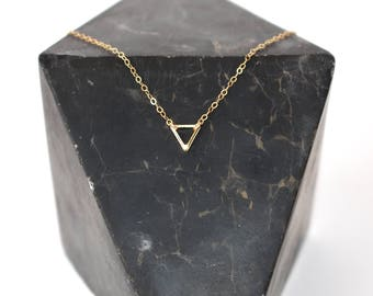 Tiny Triangle/layering Necklace/Gold/Gold Fill/Minimalist/Modern Necklace