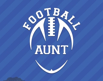 Football Aunt Vinyl Decal Sticker