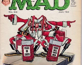 MAD Magazine #68  January 1962  E.C. Publications  Grade Fine