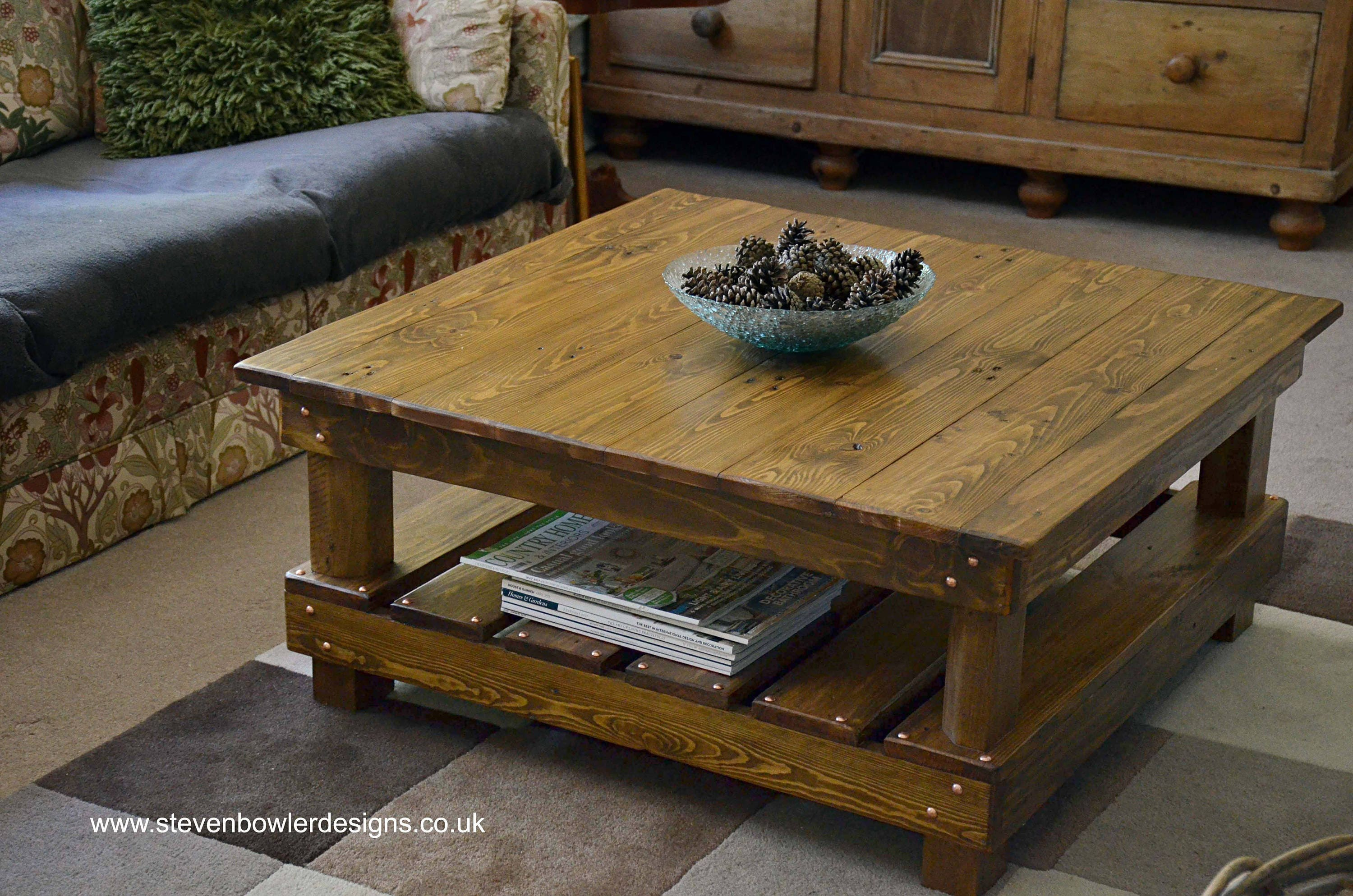 Free Uk Shipping Rustic Country Cottage Style Reclaimed Wood  ~ Cottage Style Sofa Table