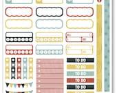 Strangers Functional Planner Stickers for Erin Condren Planner, Filofax, Plum Paper