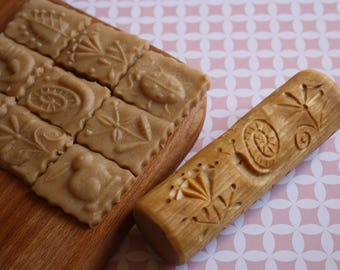Stamp Printed Cookies Rolling Pin Cookie Cutter Kitchen Utensils Baking Accessories Tools For Cookies Rustic Kitchen Decor Stamp For Cookie