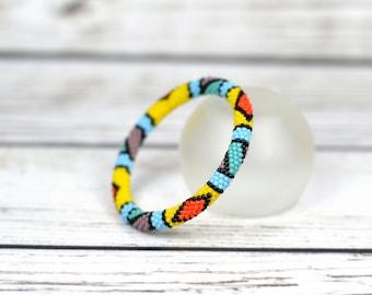 Colorful bracelet african bracelet statement jewelry boho bracelet sister birthday gift ideas geometric bracelet hippie jewelry for woman