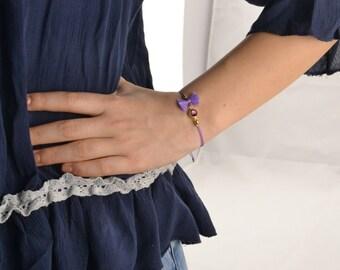 February birthstone bracelet, amethyst bracelet, february jewelry, amethyst gem bracelet, minimalist bracelet, dainty bracelet