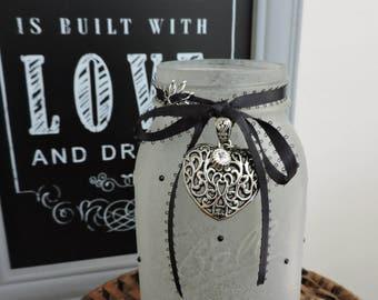 Mason Jar Decor | Gift For Wife | Sea Glass Mason Jar | Gift For Girlfriend | Gift For Mom | Romantic Gifts | Sweet Sixteen Gift