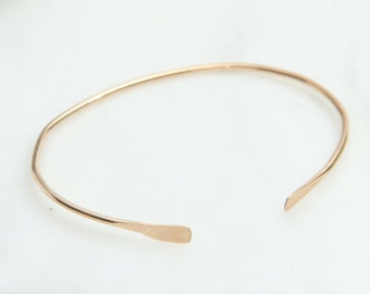 Simple Gold Bracelet, Open Stacking Bangle, Cuff Bracelet, Gold Filled or Sterling Silver, Layering Jewelry, Handmade