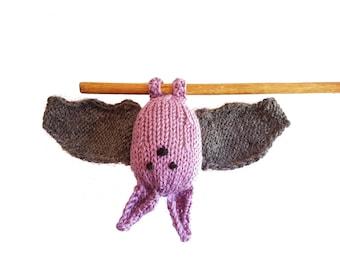 Finnegan the Adorable Bat! Knitted Toys, Stuffed Animal, cute stuffed bat, gift, plush bat, toddler toy, bat softie, kids, soft bat toy