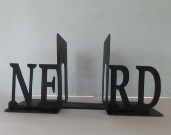 NERD - Metal Bookends