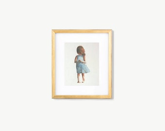 Original watercolor painting, little girl painting, watercolor figure painting