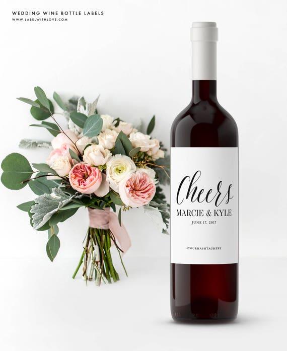 Wedding Engagement Wine Label Pdf: Custom Wedding Wine Bottle Labels Rehearsal Dinner Labels