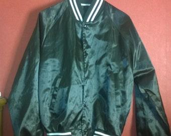 Vintage Varsity jacket black satin Jacket Bomber Vintage 90s Bomber satin black VINTAGE BOMBER