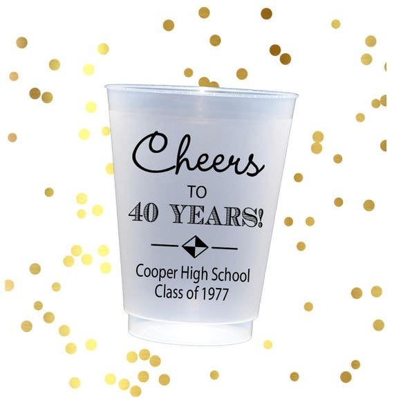 High school reunion cups, Personalized reunion cups, class reunion shatterproof cups, personalized party cups, class reunion party favor