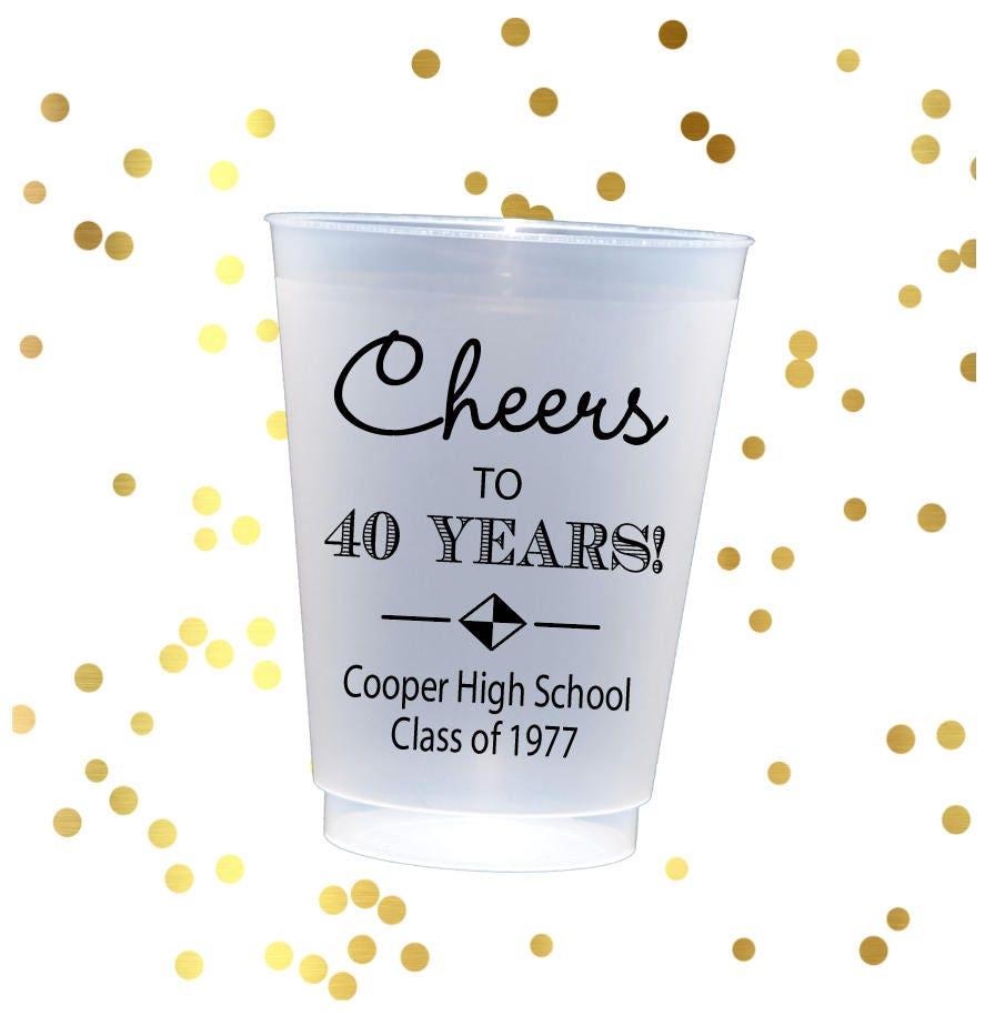 High School Reunion Cups, Class Reunion Favors