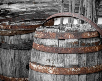Rustic Home Decor, Rustic Photography, Barrel Photography, Rustic Wall Decor