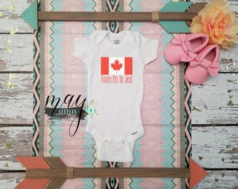 From Eh to Zed Onesie - I Am Canadian Bodysuit - First Canada Day - Baby Shower Gifts - Take Home Outfit